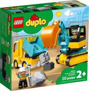 lego 10931 truck tracked excavator