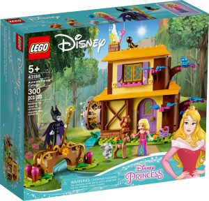 lego 43188 auroras forest cottage