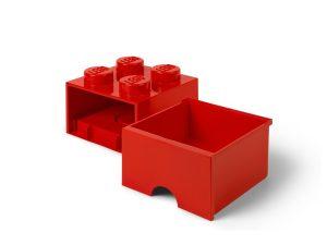 lego 5006129 storage brick drawer 4 red
