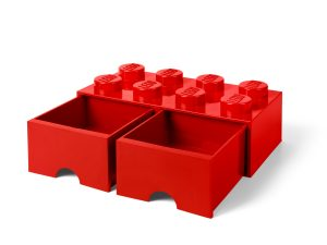 lego 5006131 8 stud red storage brick drawer