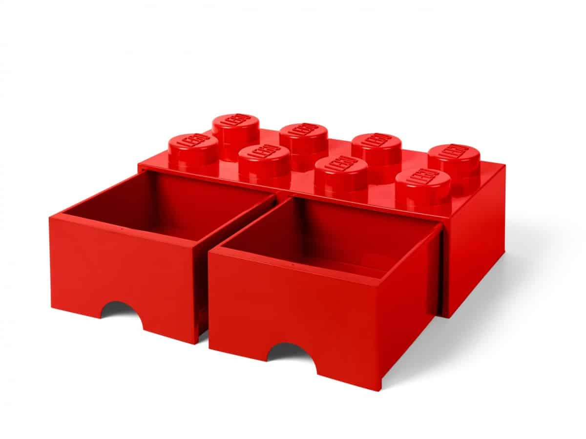 lego 5006131 8 stud red storage brick drawer scaled