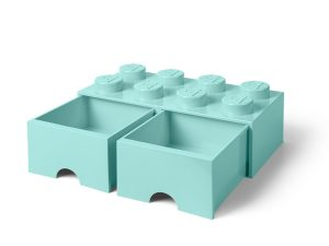 lego 5006182 8 stud aqua light blue storage brick drawer