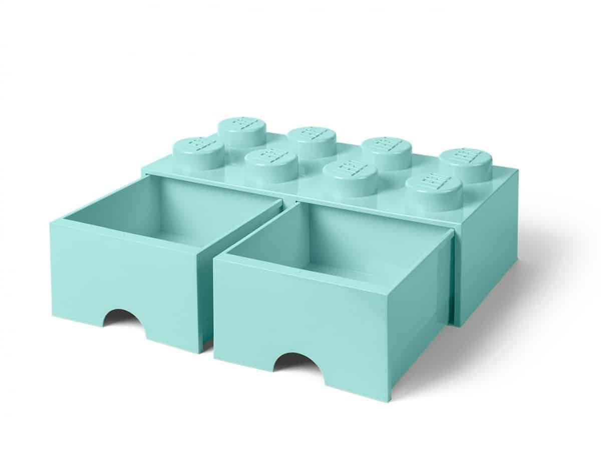 lego 5006182 8 stud aqua light blue storage brick drawer scaled