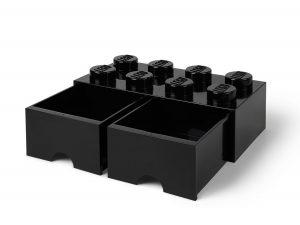 lego 5006248 8 stud black storage brick drawer
