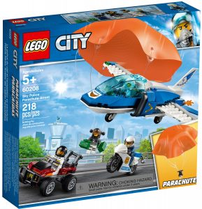 lego 60208 sky police parachute arrest