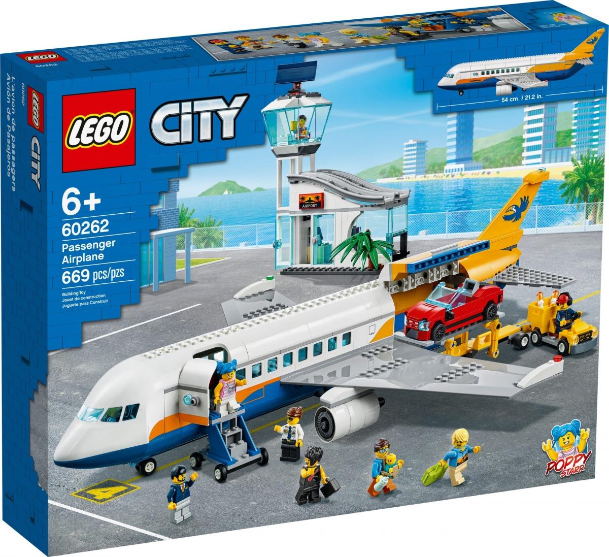 lego 60262 passenger airplane scaled