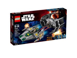 lego 75150 vaders tie advanced vs a wing starfighter