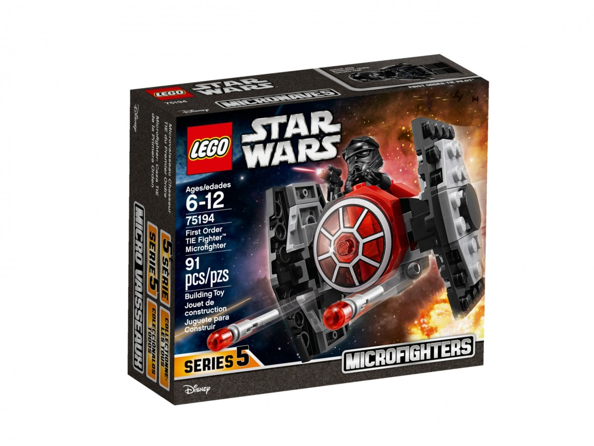 lego 75194 first order tie fighter microfighter scaled