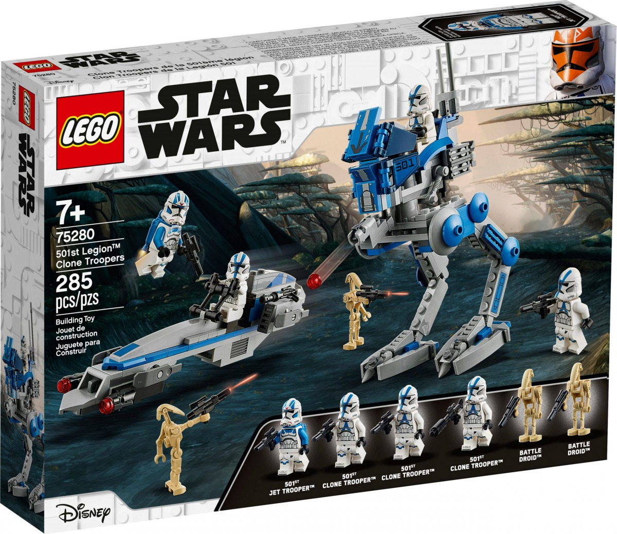 lego 75280 501st legion clone troopers scaled