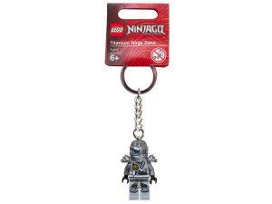 lego 851352 ninjago titanium ninja zane key chain