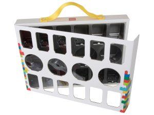 lego 851399 iconic minifigure carry case