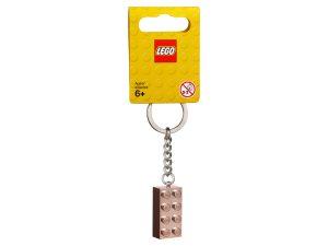 lego 853793 2x4 rose gold keyring