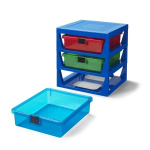 transparent blue lego 5006179 rack system