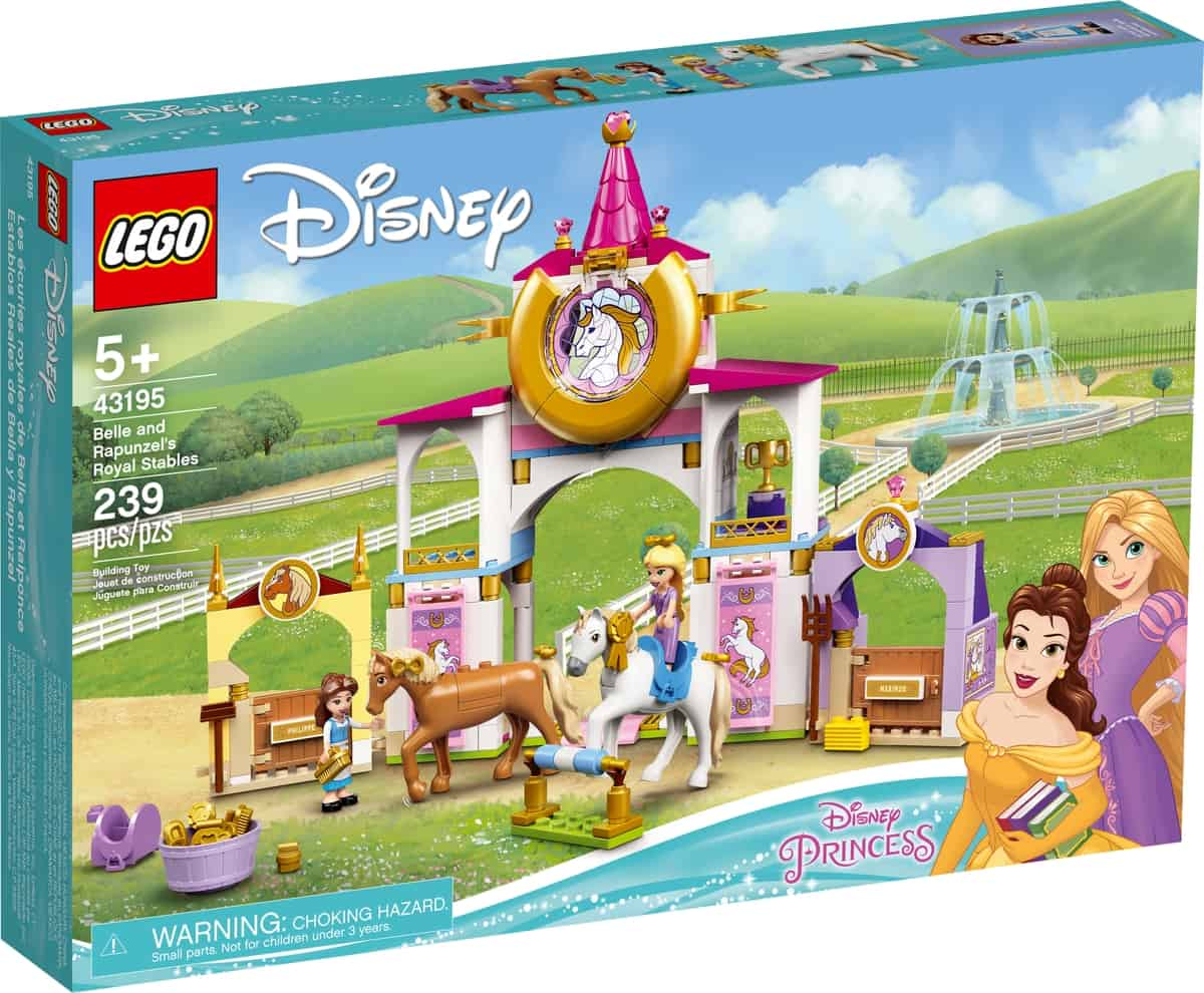 lego 43195 belle and rapunzels royal stables