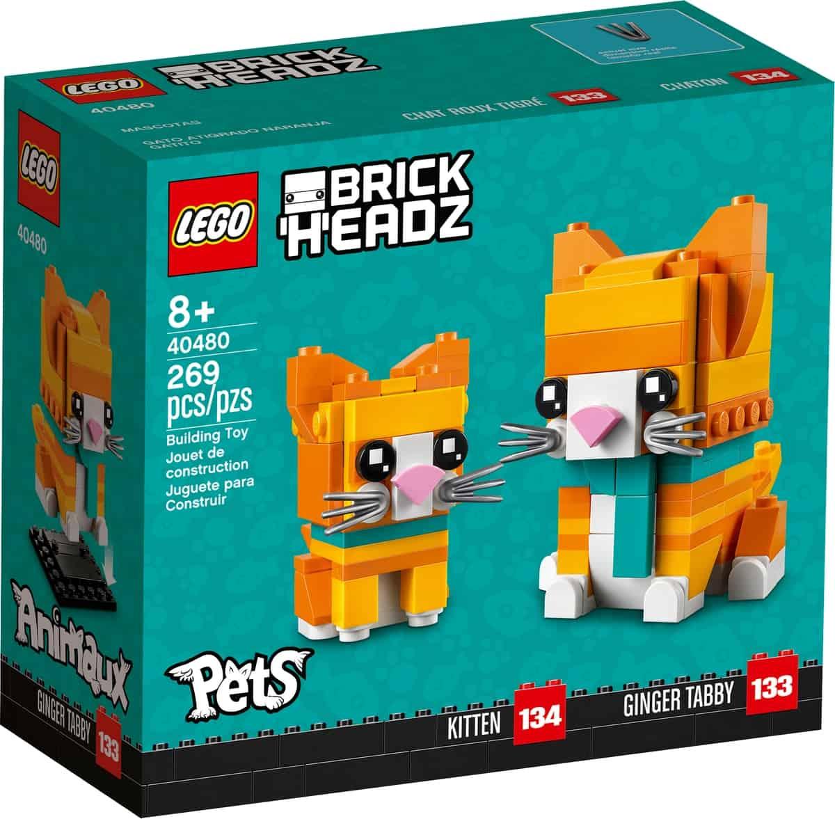 lego 40480 ginger tabby