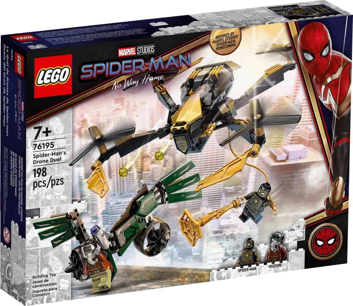 lego 76195 spider mans drone duel