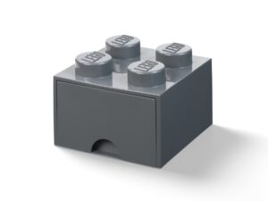 lego 5006328 4 stud brick drawer dark gray