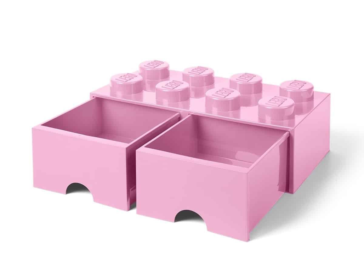 lego 5006134 8 stud brick drawer light purple