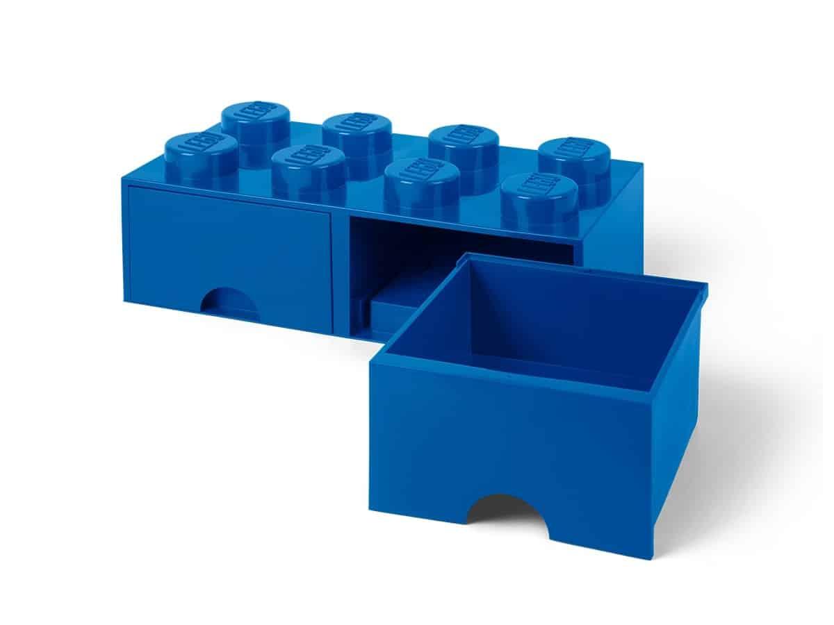 lego 5006143 storage brick drawer 8 blue